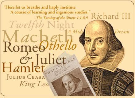 William Shakespeare literary works